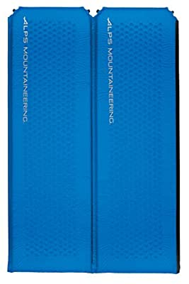 ALPS Mountaineering Flexcore Self-Inflating Air Pad, Double, Blue