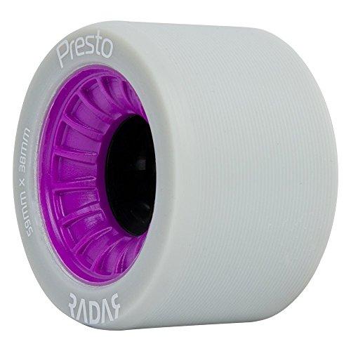 Radar Wheels - Presto - Roller Skate Wheels - 4 Pack of 59mm x 38mm Wheels | Purple | 97A Hardness