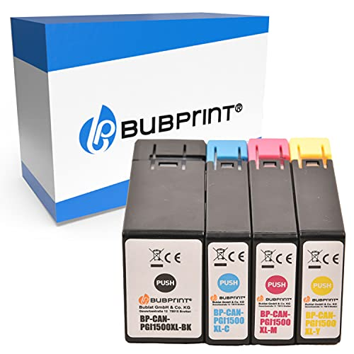 Bubprint 4 Cartuchos de Tinta Compatible para Canon PGI-1500XL para Maxify MB2000 MB2050 MB2100 MB2150 MB2155 MB2300 MB2350 MB2700 MB2750 MB2755 Multipack BK C M Y