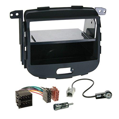 Carmedio Hyundai i10 08-13 1-DIN Autoradio Einbauset in original Plug&Play Qualität mit Antennenadapter Radioanschlusskabel Zubehör und Radioblende Einbaurahmen schwarz