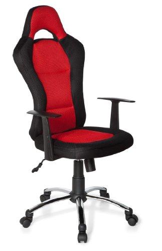 hjh OFFICE Gaming Stuhl/Bürostuhl Racer 500 schwarz/rot