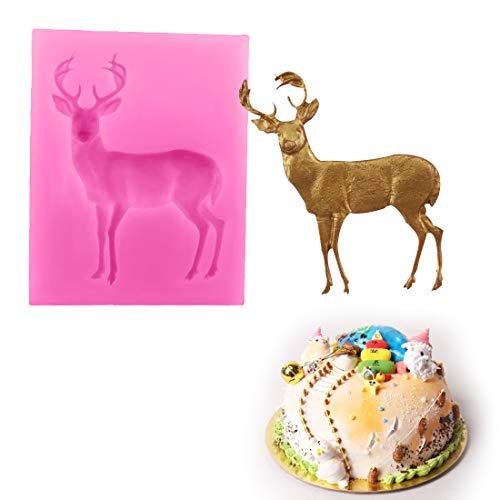 Silicium M Chocolade - 1 st Bakeware Siliconen Kerstmis 3D Herten Vorm Mold Cake Decorating Gebak Bakken Chocolade Zeep M - Betonnen Pannenkoeken Gratis Cake Siliconen Formule Snoep Bakgereedschap voor