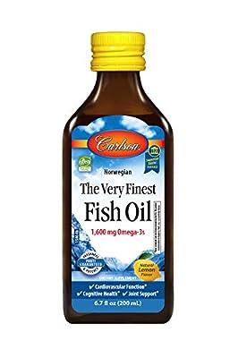 Carlson The Very Finest Fish Oil,Orange, Norwegian, 1,600 mg Omega-3s, 500 mL