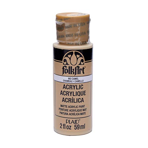 FolkArt Acrylic Paint in Assorted Colors (2 oz), 953, Camel