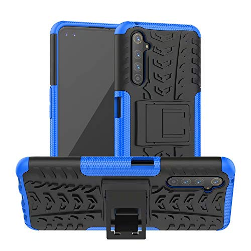 Dedux Case for Oppo Realme 6, [Tough Armor Series] Rugged PC Back Panel Anti-Scratch + Shockproof Protective TPU Interior, Blue