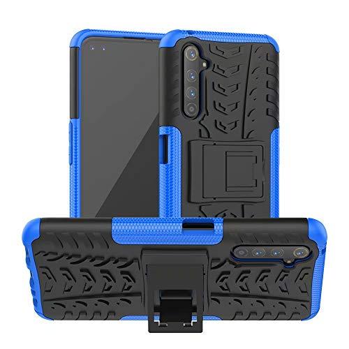 Dedux Custodia per Oppo Realme 6, [Tough Armor Series] Robusto Pannello Posteriore PC AntiGraffio + Antiurto TPU Protettivo Interno, Blu