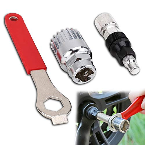 BETOY Tretlager Kurbelabzieher Fahrrad Kurbel Werkzeug 3 stück Kurbelabzieher Fahrrad Set für Fahrradhalter Repair Tool