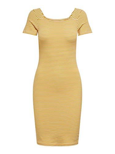ONLY Damen Kleider onlFiona Life Jersey goldfarben XL