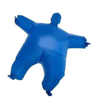 MorphCostumes Blue MegaMorph Kids Inflatable Blow Up Costume - One Size MCKIBL
