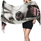 27'x77 Bufandas para niñas Siberian Naughty Husky Hombres Bufandas para la cabeza de las mujeres Bufanda del abrigo Elegante manta cálida grande