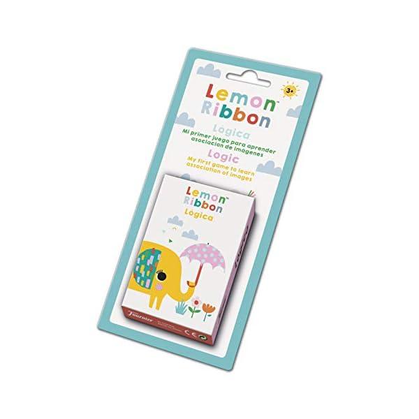 Fournier- Lemon Ribbon Lógica. Mi Primer Juego para Aprender Asociaciones de Imágenes. Baraja infantil Educativa, Color…
