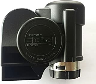 Stebel Nautilus Compact Black Mini Air Horn with Cover
