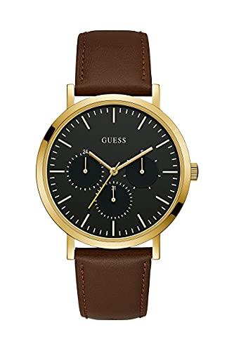 Guess Herren Chronograph Quarz Uhr mit Leder Armband W1044G1