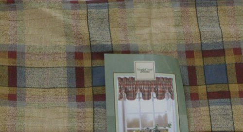 NorthCrest Home Duncan Plaid Federal Window Valance Curtain Topper