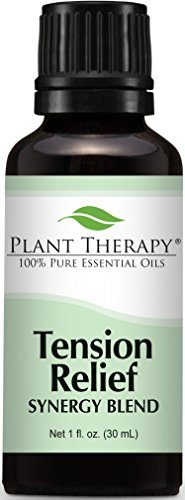 Plant Therapy Tension Relief (Headache Relief) Synergy Essential Oil Blend. 100% Pure, Undiluted, Therapeutic Grade. 30 mL (1 Ounce).