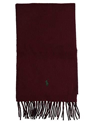 Ralph Lauren Mod. 449775966 Sjaal Fringes Dubbele Kleur Unisex Bordeaux - Blauw