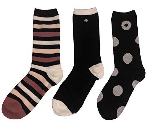 Kate Spade New York Women's 3-Pack Trouser Socks One Size Gift Box