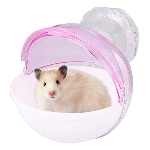 Unibell Acryl Kleintiere Tierkäfig Bad auf dem Flur WC Haus for Hamster Meerschweinchen Baden (Pink)