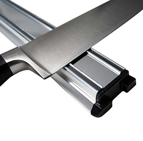 Support magnétique pour couteaux Classic - ALUMINIUM - 30 ou 45 cm - Barre Aimantée Porte-Couteaux - rangez très facilement tous vos couteaux, à fixer au mur de votre cuisine, Longueur:450 mm