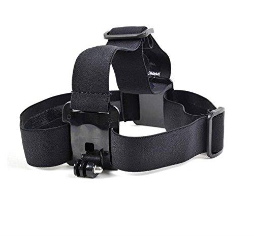 Sangle Ceinture Harnais de fixation pour casque ventilé de tête réglable élastique avec anti-dérapant glu en forme de vague pour Garmin VIRB 360 VIRB X XE ULTRA 30 Action Cam Caméra Embarquée Sport