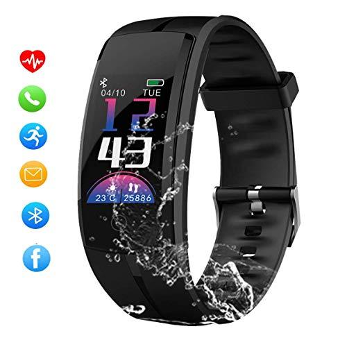 Zeerkeer 05027 Smartwatch, activiteitentracker met hartslagmeter en slaapmonitor, stappenteller, smartwatch, bluetooth-berichten voor mobiele telefoon, Android, iOS smartphones