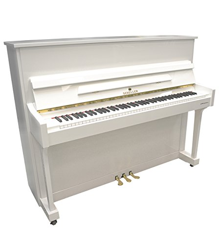 Schiller Upright Piano Special Edition 45' - White Polish to Lower 48 U.S.