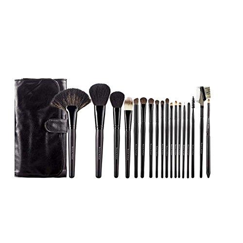 Ensemble de pinceaux de maquillage 18 pièces avec étui (noir)