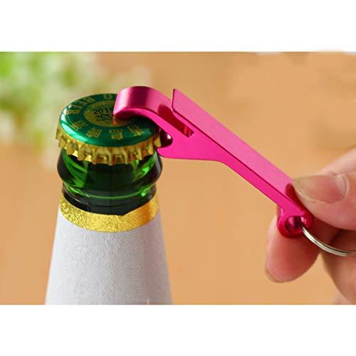 YUYDYU Llavero abrebotellas ligero y creativo abridor de cerveza novedoso llavero removedor de tapas de botella, suministros de herramientas para barra de regalo (color al azar)