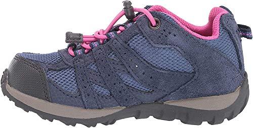 Columbia Redmond, Zapatillas Bajos Impermeables Unisex niños, Azul, Rosa (Bluebell, Pink Ice), 11.5