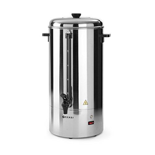 HENDI Kaffee-Perkolator, Einwandig, eingebauter Filterwanne, non drip Hahn, für grob gemahlen Kaffee, kein Papierfilter notwendig, 6L, 230V, 1500W, 336x310x(H)465mm, Edelstahl 18/0