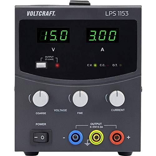 Voltcraft LPS1153 Labornetzgerät, einstellbar 0-15 V/DC 0-3A 45W Anzahl Ausgänge 1 x
