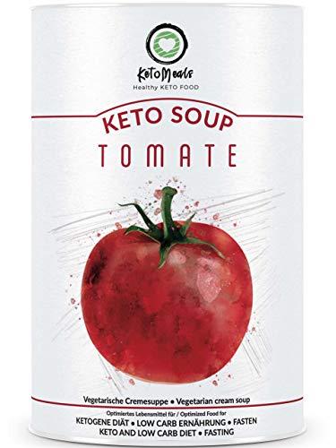 KetoMeals Keto Soup Tomate • Ketogene Fastensuppe zum Abnehmen • Keto Diät • Low Carb Ernährung • Fasten | 450g Suppen-Pulver
