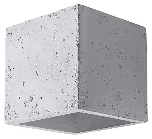 Sollux Wandleuchte QUAD BETON, moderne, graue LED-Leuchte für Wohnraum, Schlafzimmer, Badezimmer, Flur, Büro, Sockel G9, SL.0487