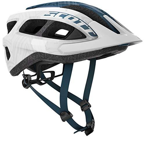 SCOTT Casco Adulto Supra Bike Helmet Talla Unica 54-61cm Blanco-Azul +mosqueton 5cm Regalo