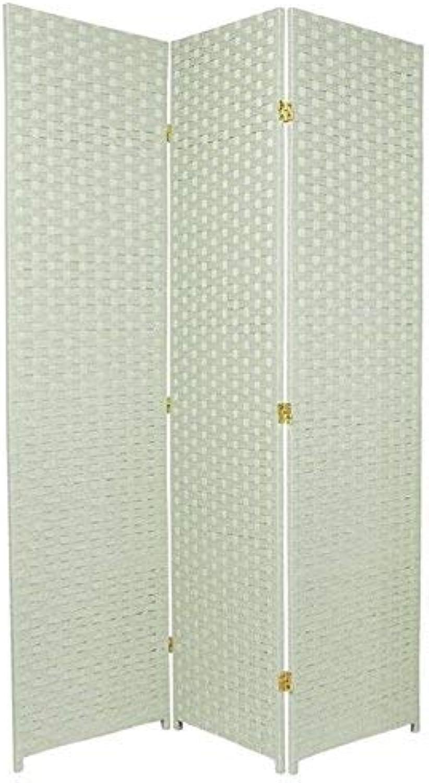 Oriental Furniture 6-Feet Tall Woven Fiber Room Divider, Special Edition, Sea Grass