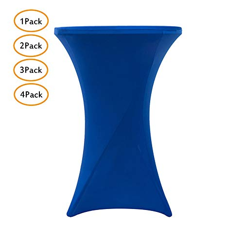 PUDDINGHH® Stehtischhusse Tischhusse Husse Für Stehtisch Bistrotisch Tisch 2 Verschiedene Größen - Blau,60 * 110cm,1Pack