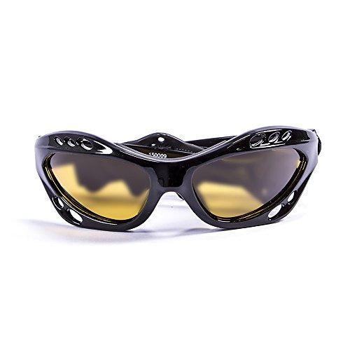 Ocean Sunglasses Sunglasses –Cumbuco–Gafas de Sol polarizadas–Montura: Negro Brillante–Lentes: Amarillo (15000.9)
