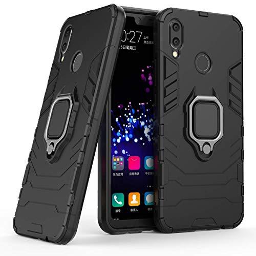 LuluMain Kompatibel mit Huawei P Smart+ Hülle, Ring Ständer Magnetischer Handyhalter Auto Caseme Schutzhülle Case für Huawei P Smart Plus, Nova 3i (Schwarz)
