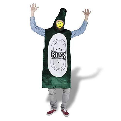 GOTOTOP - Disfraz de botella de cerveza con vestido de una sola pieza, sombrero no desmontable para Oktoberfest Bávara Featival M-L
