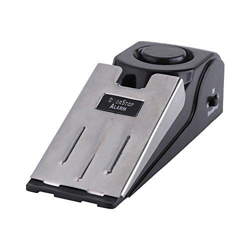 Qiilu Arrêt d'alarme de butée de porte, Portable Security Home Wedge en forme de butée d'arrêt de porte Blocage de blocage d'arrêt 100 dB