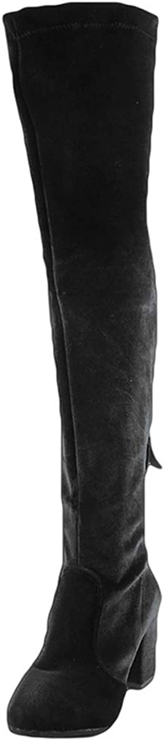 T-JULY Women's Over The Knee Boots Slim Thigh High Heels Motorcycle shoes