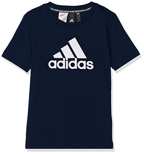 adidas Yb Mh Bos T T-Shirt, Kinder, Jungen, Unterhemd, DV0817_110, blau (Maruni/weiß), 110
