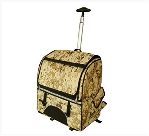 JBPX Huisdier Carriers Camouflage Multifunctionele Huisdier Rolling Bagage Casters Trolley Cabin Wheels Koffers Reistas Women'S Rugzak