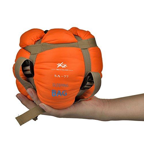 Saco de dormir rectangular ultraligero, acampar al aire libre, mochilero y senderismo, adecuado para primavera, verano y otoño: impermeable y compacto