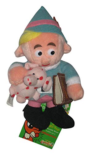 Rudolph 1999 Island of Misfit Toys 12' Large Plush Herbie or Hermey The Elf Doll with Spotted Elephant and Book from CVS Stuffins