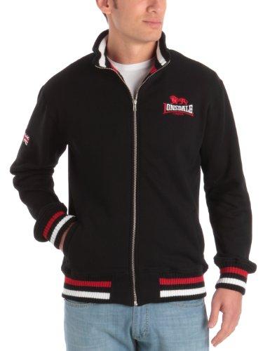 Lonsdale Herren Sweatshirt Sweatshirt Zip Dover schwarz (schwarz) Large