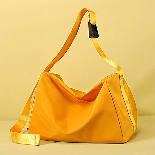 Bolsa Seca Impermeable Saco de Gimnasia para Deporte Gimnasio Yoga Nadar Bolsa Deporte Macuto con Zapato y Compartimento Húmedo - Unisex Adulto - Objetos Secos Yellow