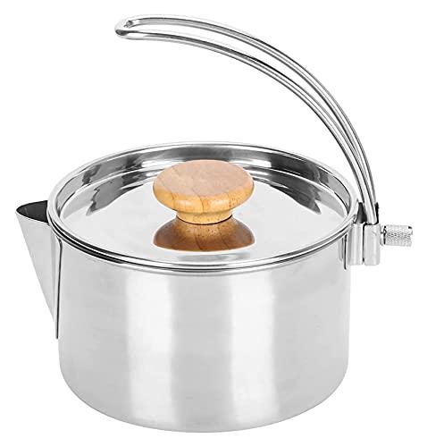 ALEXHAN Cristal de Acero Inoxidable Potable Plegable Café Té para Té de Agua Hirviendo Té Café con Congelación con Congelación./Plata/17X14X9Cm