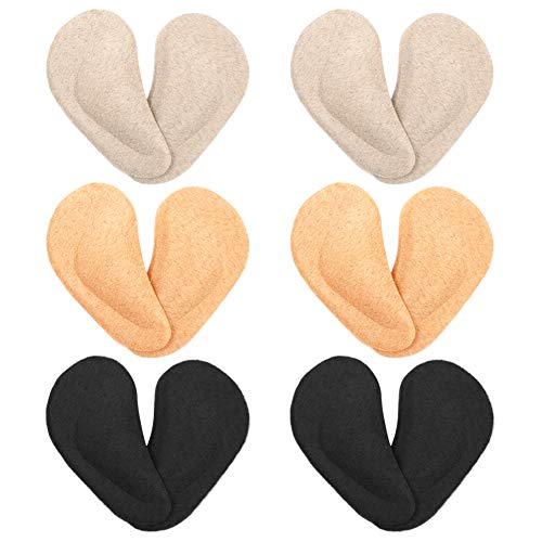6 Pares de Plantillas de Soporte de Gel para el Arco Fascitis Plantar Soporte para Zapatos de Gel Tacón Alto Almohadillas de Cojín para Mujeres Hombres Aliviar el Dolor Amarillo Claro Amarillo