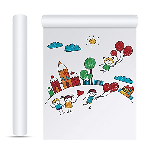 XAVSWRDE 2 rollos de papel de dibujo de 22,5 cm x 10 m, papel de caballete de arte en blanco, papel de dibujo de graffiti, tabla de pintura para niños, niños y adultos